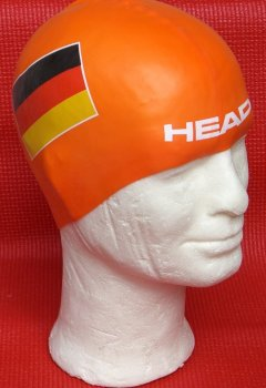 HEAD Badekappe Germany Silicone Flat - orange