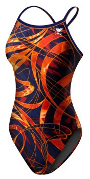TYR Sonic Wave Diamondback Navy/Orange Junior